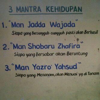 3 mantra kehidupan
