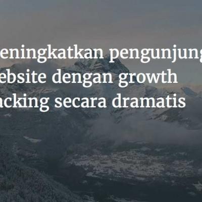 meningkatkan pengunjung website dengan growth hacking